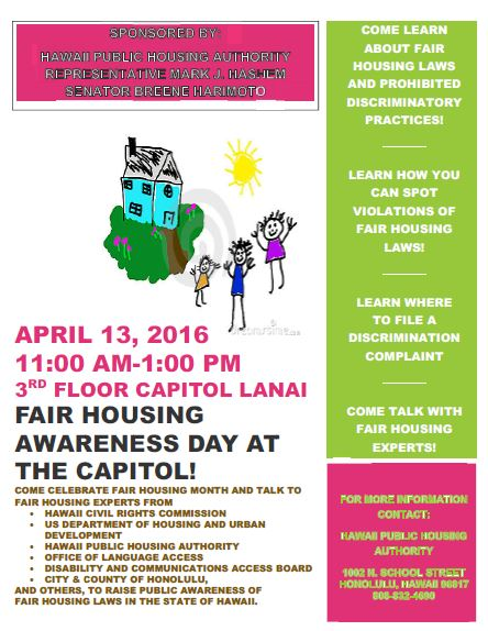 Fair Housing awareness day flyer 2
