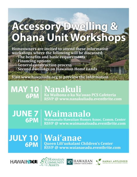Hawaii ADU Workshop Flyer