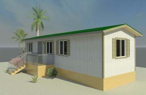 A rendering of a two-bedroom modular housing unit for the homeless that the city plans to install on a Waianae property. Courtesy of the city