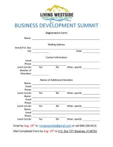 Summit Registration Form