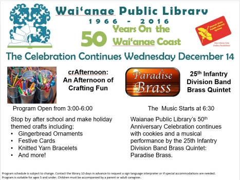 Waianae Public Library 50th Anniversary