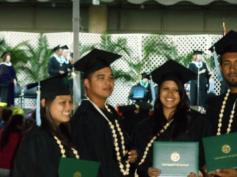 Photo from a University of Hawaii-LCC graduation ceremony.